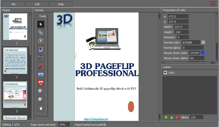 3d page flip editor