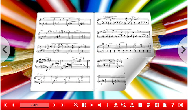 3d page flip music eBook