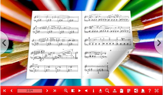 3d page flip music eBook