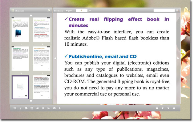 Free Flip pages worker for eBook 1.0 full