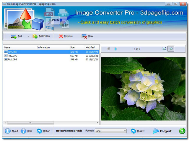 Windows 7 Free 3DPageFlip Image Converter 1.0 full