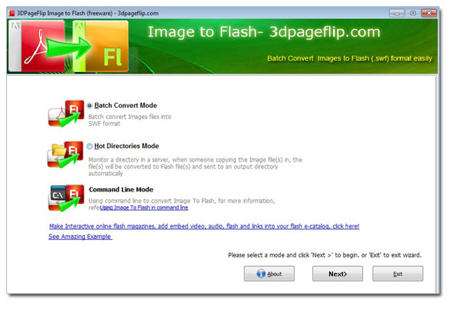 Batch convert images to flash slideshow!