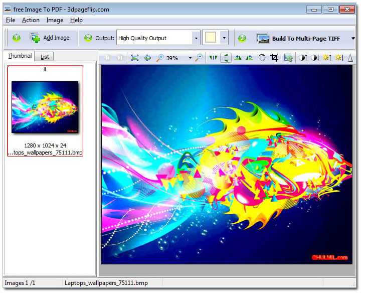Windows 7 Free 3DPageFlip Image to PDF Converter 1.0 full