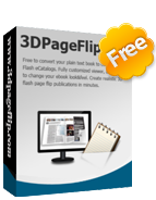 3DPageFlip Free Flash Flip Book Software