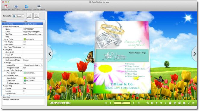 Windows 7 3D PageFlip Professional Mac 1.1.1 full