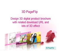 Design 3D Digital Product Brochure with Related Download URL