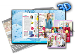 3D Page Flip Book Templates of Colorful Eggs 1.0