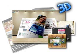Exhibit Mode Style for 3D eBook Theme 2.0