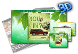 Greenery Template for 3D Page Turn Book 1.0