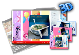 Horse Girl 3D Page Flip Book Templates 1.0