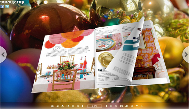 Colorful Theme for 3D PageFlip eBook 2.0