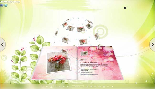 3D PageFlip eBook Flower Themes full screenshot