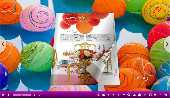 Windows 7 Iridescent Style for 3D Page Flip Book 1.0 full