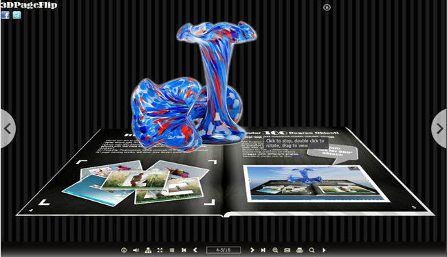 Lines Theme for 3D eBook