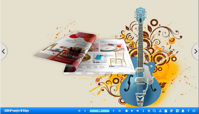 Musical Theme for 3D Page Flip eBook