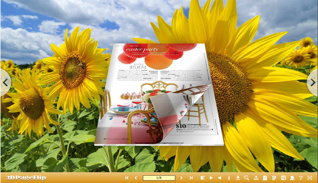 3D Page Flip eBook Optimism Theme