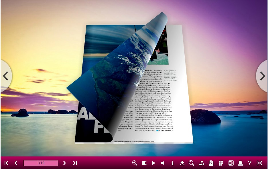3D PageFlip Book Seaside Theme