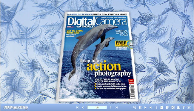 Windows 7 3D PageFlip Snow and frost Templates 1.0 full