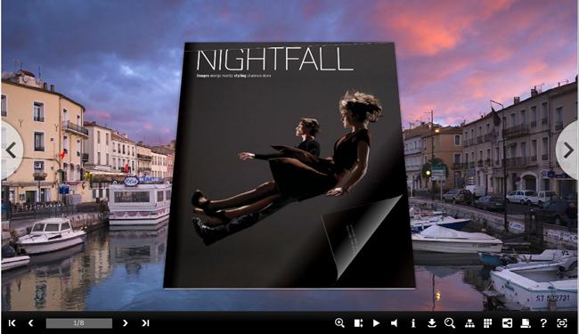 Windows 7 Water Shot Template for 3DPageFlip Book 1.0 full