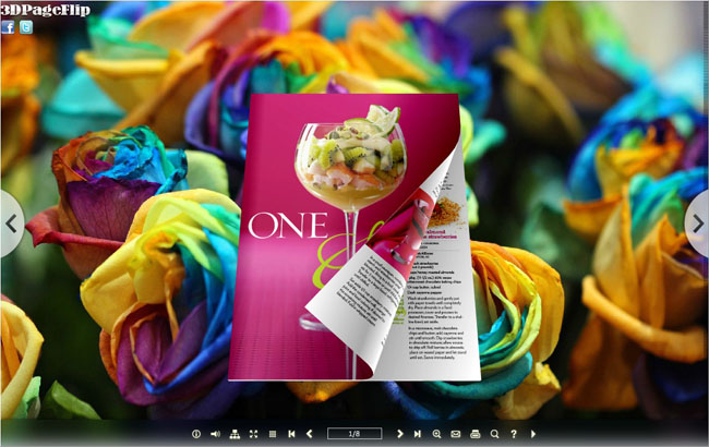 3d e-book with attractive page flipping effect