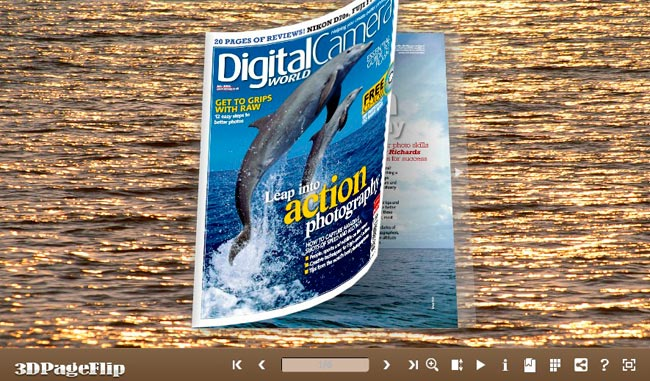 3DPageFlip Flash Catalog Templates for Sea Water Screenshot
