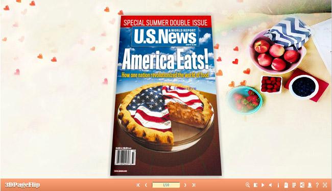 Windows 7 3D PageFlip Sweet Food Templates(1) 1.0 full